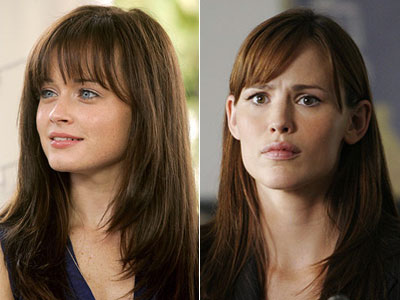 Gilmore Girls, Alexis Bledel | Rory Gilmore (Alexis Bledel), Gilmore Girls season 7 / Sydney Bristow (Jennifer Garner) Alias season 4 Both of these bangs (sets of bangs? bang communities)…