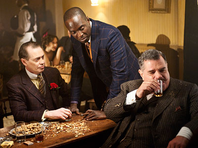 Steve Buscemi, Boardwalk Empire | 9. BOARDWALK EMPIRE (HBO) Gangsters with tommy guns, bare-breasted chorus girls, sinister mobsters. We've seen it all before, but Steve Buscemi lends humor and gravitas…