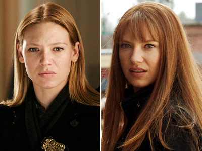 Fringe, Anna Torv | Evil/Alternate Olivia (Anna Torv), Fringe See? Guess which one is evil? You don't have to. BANGS SIGNIFY EVIL. (Female version of evil facial hair on…
