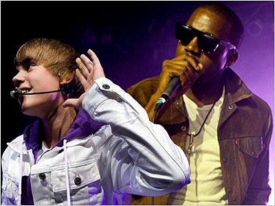 Justin Bieber, Kanye West, ... | 10. Releases a remix of Justin Bieber?s ''Runaway Love.'' Who but Kanye would have thought to pair the squeaky-clean teen heartthrob?s vocals with a gritty…
