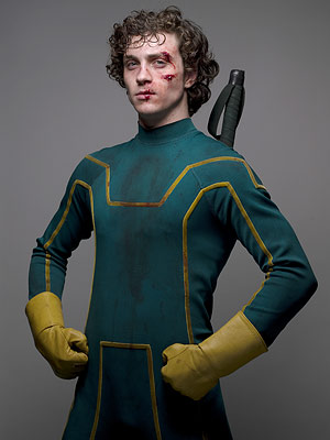 Aaron Johnson, Kick-Ass | Aaron Johnson As wannabe superhero Dave Lizewski, British-born Aaron Johnson, 20, flawlessly flipped from teenage gawkiness to comic-book bravado in the action-packed ode to fanboy…
