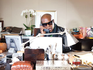 THE HEAD OFFICE L.A. Reid, from his high-rise suite in midtown Manhattan