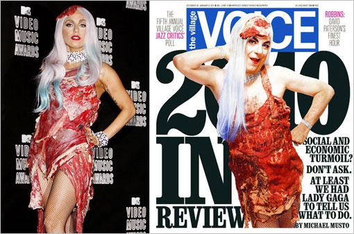 Lady-Gaga-meat-dress-Voice