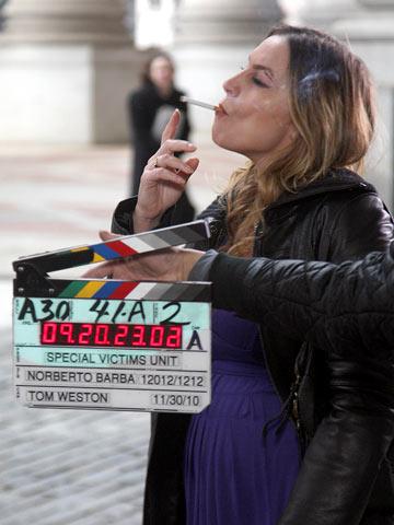 Drea de Matteo, Law & Order: Special Victims Unit | Drea de Matteo on the set for her guest appearance on Law & Order: SVU