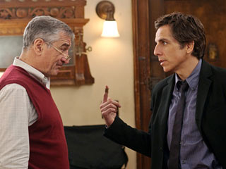 Little Fockers | YOU TALKIN' TO ME? Third time's not a charm when Robert De Niro and Ben Stiller square off in Little Fockers