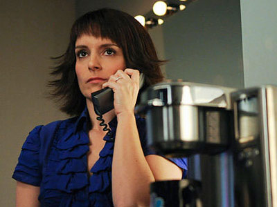 30 Rock, Tina Fey | Liz Lemon (Tina Fey), 30 Rock Thank God this only lasted one episode. Angled glorified-cowlick bangs? That's a dealbreaker, ladies!