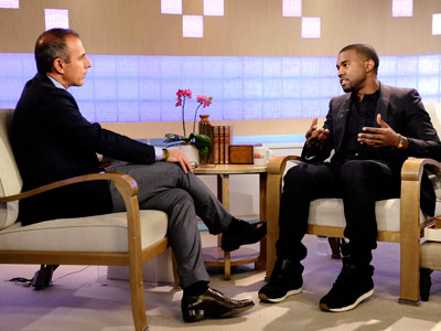 Kanye West, Matt Lauer, ... | 9. Squirms throughout an excruciatingly awkward interview with Matt Lauer on NBC?s Today . He later cancels a scheduled performance on the show. (Nov. 11)