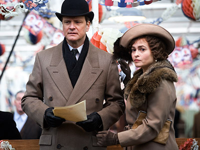 ROYAL PAIN Colin Firth and Helena Bonham Carter in The King's Speech