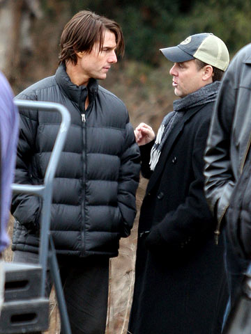 Tom Cruise | Tom Cruise and director Brad Bird on the set of Mission: Impossible: Ghost Protocol in Burnaby, BC Canada.