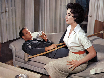 Paul Newman, Elizabeth Taylor, ... | ELIZABETH TAYLOR and PAUL NEWMAN, Cat on a Hot Tin Roof (1958) Critics agreed that these Hollywood heavyweights were evenly matched as Maggie the Cat…