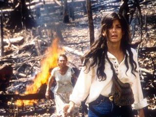 Fire on the Amazon | JUNGLE FLAMES A young Sandra Bullock in Fire on the Amazon