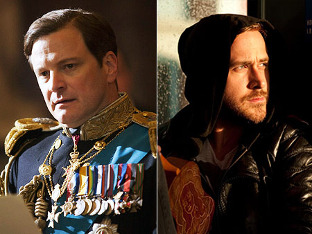 Will win: Colin Firth, The King's Speech Should win: Ryan Gosling, Blue Valentine Don't get me wrong: Colin Firth completely deserves the trophy he's absolutely…