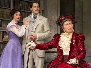 THE IMPORTANCE OF BEING EARNEST Sara Topham, David Furr, and Brian Bedford