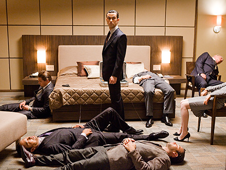 Inception, Leonardo DiCaprio | What Lisa said: ''It's a rolling explosion of images as hypnotizing and sharply angled as any in a drawing by M.C. Escher or a state-of-the-biz…