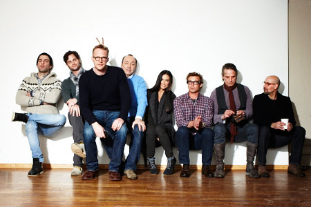 Demi Moore, Penn Badgley, ... | (Left to right) Zachary Quinto, Penn Badgley, Paul Bettany, Kevin Spacey, Demi Moore, Simon Baker, Jeremy Irons, and Stanley Tucci, Margin Call