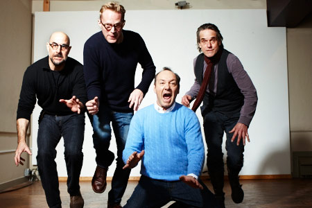 Jeremy Irons, Kevin Spacey, ... | (Left to right) Stanley Tucci, Paul Bettany, Kevin Spacey, and Jeremy Irons, Margin Call