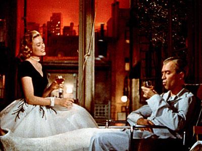 Grace Kelly, Jimmy Stewart | JAMES STEWART and GRACE KELLY, Rear Window (1954) Sure Grace Kelly could probably do better than a peeping-tom photographer in a leg cast — a…