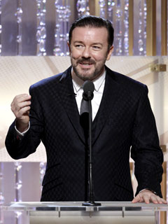 Ricky Gervais Host Globes