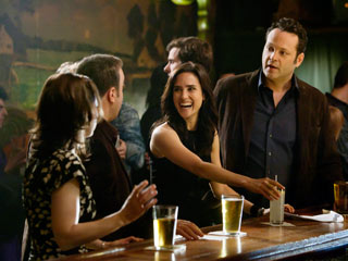 MARRIED LIFE Jennifer Connelly and Vince Vaughn pal around with their best friends in The Dilemma