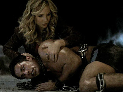 The Vampire Diaries | Tyler (Michael Trevino) and Caroline (Candice Accola) grew close as she helped him through his first full moon transformation, but the secret she's been keeping…