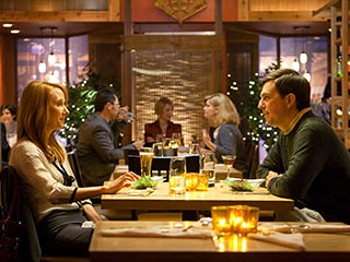 Ed Helms, Cedar Rapids | DINNER CONVERSATIONS Anne Heche and Ed Helms share a meal in Cedar Rapids