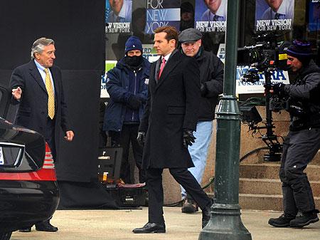 Robert De Niro and Bradley Cooper film scenes for their new thriller Limitless in Philadelphia.