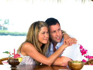 Just Go With It | ENJOYING SUNSHINE Jennifer Aniston and Adam Sandler hug it out in Just Go With It