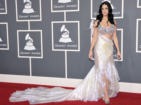 Katy Perry | Is the pop queen vying for the title of newest Victoria's Secret Angel in this winged Armani get-up?