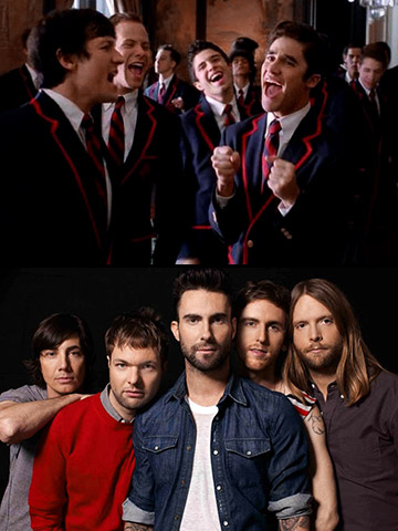 Glee | A Popwatch study claims the sound of Adam Levine's voice is more effective in getting people to remove their clothes than lice and heat waves…
