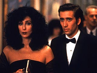 Cher, Moonstruck | BLACK TIE Cher and Nicolas Cage smitten with one another in Moonstruck