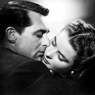 Notorious, Cary Grant, ... | Devlin and Alicia Cary Grant, as a secret agent, and Ingrid Bergman, as the daughter of a Nazi spy, enjoy one of the longest kisses…