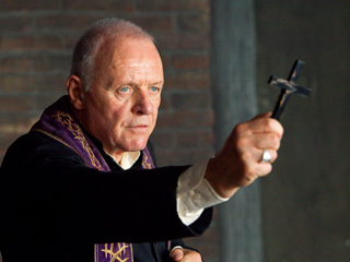 The Rite | MAN OF GOD Anthony Hopkins carries the cross in The Rite