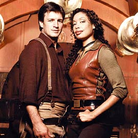 Gina Torres, Nathan Fillion, ... | FLIGHTS OF FANCY Space cowboys Fillion and Torres in Firefly