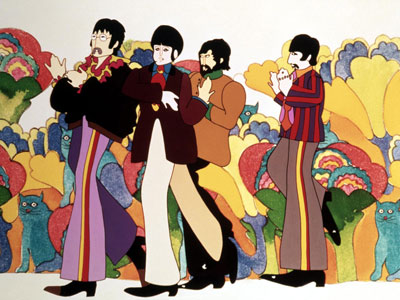 The Beatles, Yellow Submarine | If you don't love the Beatles' colorful, psychedelic animated musical, you must be a Blue Meanie. Featuring John, Paul, George, Ringo, Lucy, Eleanor, and Sgt.…