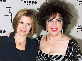 Carrie Fisher Elizabeth Taylor