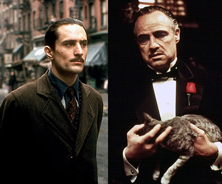 Younger version: Robert De Niro ( The Godfather Part II , 1974) Older version: Marlon Brando ( The Godfather , 1972) Why it works: Both…