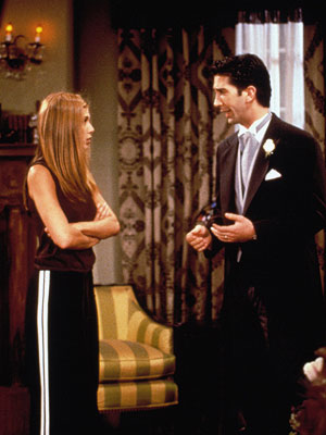 Friends, David Schwimmer, ... | Ross Comes Clean About Rachel, Season 4 When Ross said he'd wed thee, Rachel, instead of soon-to-be wife, British bore, Emily in ''The One with…