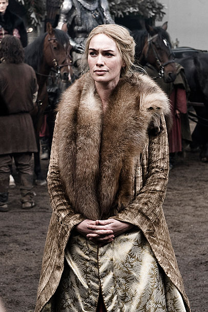Game of Thrones, Lena Headey | Headey on transitioning from more action-oriented roles such as The Sarah Connor Chronicles : ''I was such a dude [in previous series]. My husband's always…