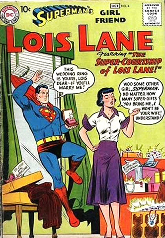 Superman | By the '50s, the comic book Lois had undergone a near-complete character transformation: No longer a relentless career woman, she had become primarily focused on…