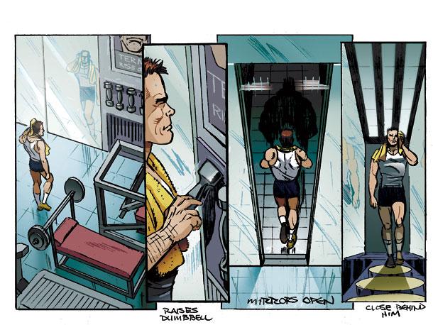 The Governator's gym