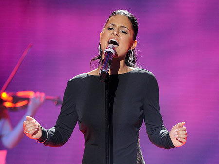 Pia Toscano | After Pia sang Stevie Wonder's ''All in Love Is Fair,'' J. Lo said Pia could have a career like Celine Dion and do two-hour concerts…