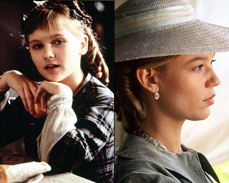 Kirsten Dunst, Little Women (Movie - 1994)   Dunst's focused young Amy who heads off live with Aunt March, then grows up to be quite the self-absorbed beauty (Mathis).
