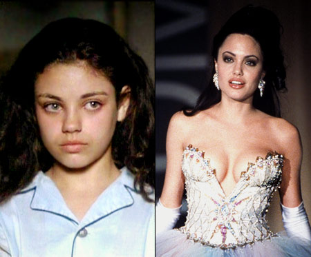 Mila Kunis, Gia, ...   Twelve years before she shared an onscreen kiss with Natalie Portman in Black Swan , Kunis played the younger version of drugged-out, lesbian model Gia…