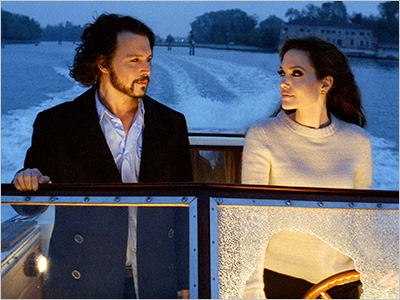 VENICE, MY DARLING Johnny Depp and Angelina Jolie take a memorable ride down the canals in The Tourist
