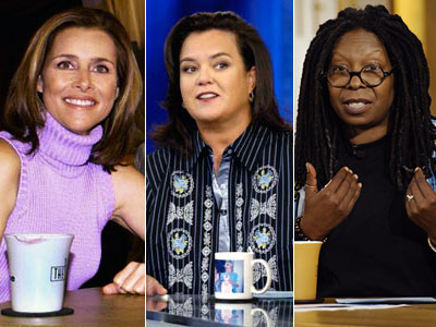 The View, Meredith Vieira, ... | Meredith Vieira : 9 seasons (1997-2006) Rosie O'Donnell : 1 season (2006-07) Whoopi Goldberg : 4 seasons...and counting (2007-present) The combination of from-day-one co-hosts Barbara…