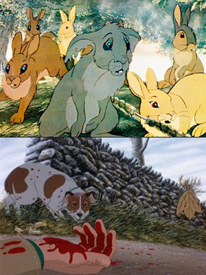 Watership Down | These two adaptations of Richard Adams books make you want to immediately go out and donate to the ASPCA. By rendering the warren of preyed-upon…