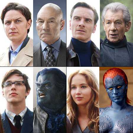 X-Men   The upcoming X-Men: First Class is all about the young'uns, with a new crop of actors taking on Professor X, Magneto, Beast, and Mystique.