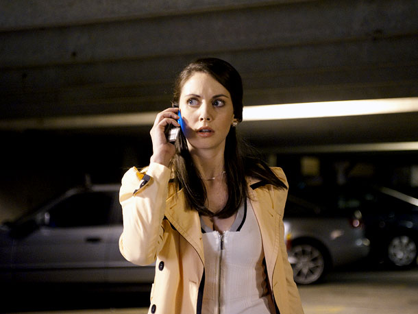 Scream 4 | Sidney returns to Woodsboro with a new book and a publicist, Rebecca, played by Community 's Brie. Bitchy Rebecca works for Sid but is actually…
