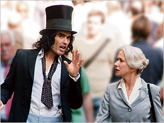 Helen Mirren, Russell Brand, ... | DRUNKEN PLAYBOY Russell Brand and Helen Mirren in Arthur