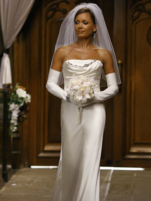 Ugly Betty, Vanessa Williams | Who knew evil could be so elegant? The Vera Wang number Wilhelmina Slater (Vanessa Williams) wore when she tricked Bradford Meade into marrying her was…